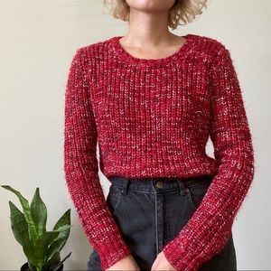 ❌SOLD❌ Red Speckled Knit Sweater